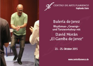 flyer workshop David Moran El Gamba de Jerez