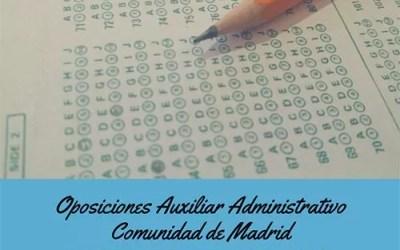 Listas admitidos y excluidos de Aux. Administrativo de la CAM