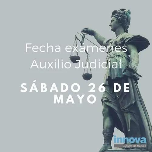 26 de mayo: fecha examen oposiciones auxilio judicial