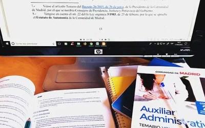 ¡SE ACERCA LA FECHA DE EXAMEN PARA AUXILIAR ADMINISTRATIVO DE LA CAM!