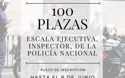 Convocadas 100 plazas Escala Ejecutiva, categoría Inspector de Policía Nacional