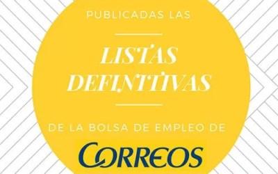 Publicadas las listas definitivas de la Bolsa de Empleo de Correos