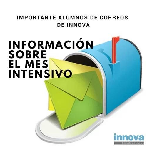 Importante alumnos de Correos de Innova: Información sobre el mes intensivo