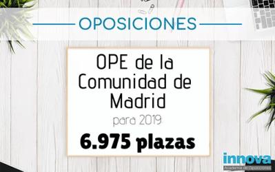 Aprobada la Oferta de Empleo Público de la CAM para 2019 con casi 7.000 plazas