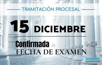fecha examen tramitacion procesal 2019