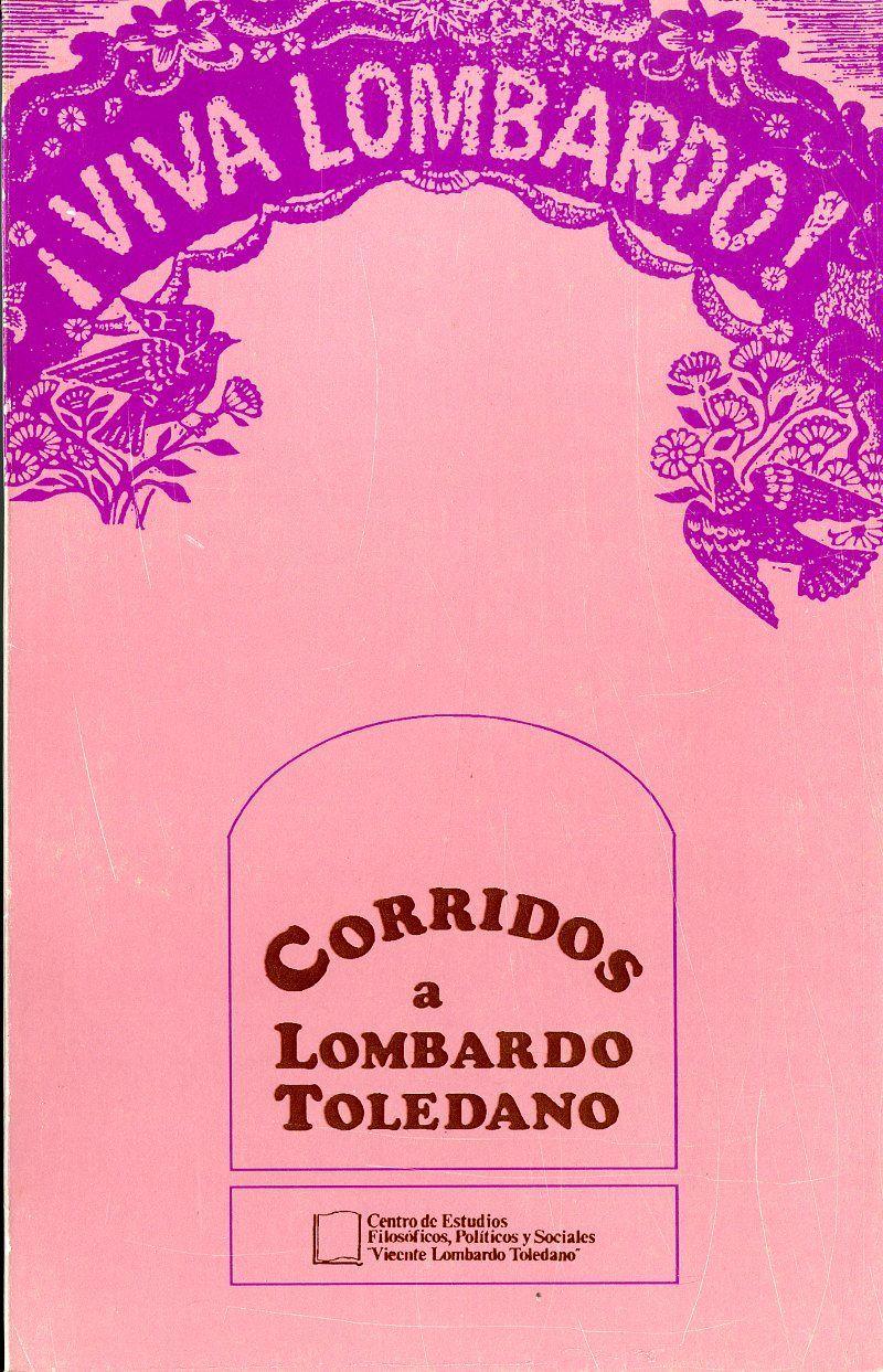 Portada del libro: CORRIDOS A LOMBARDO TOLEDANO