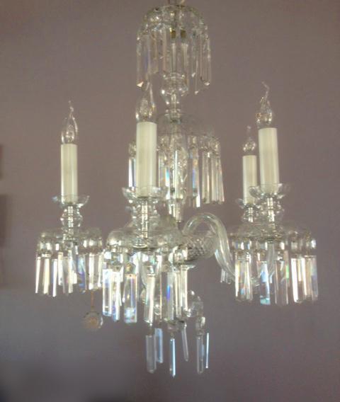 lampadario vintage anni '50 con cristalli di boemia, anni '50, composto da 4 luci perimetrali e una luce centrale, in ottime condizioni. Outlet Illuminazione Lampadario Classico In Cristallo Di Boemia 5l Sconto 50 1 Pezzo Disponibile