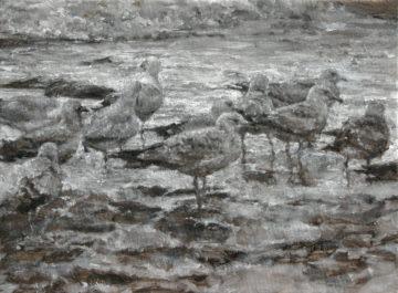 Mdlin Ciuc, Senza titolo, 2015, olio su tela, 30x40cm