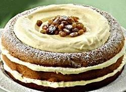 Risultati immagini per immagine pan di spagna con zabaione e uvetta