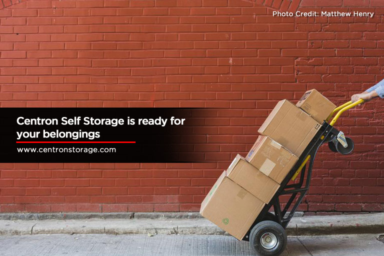 Centron Self Storage is ready for your belongings
