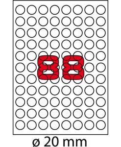 Etichette tonde Markin R300