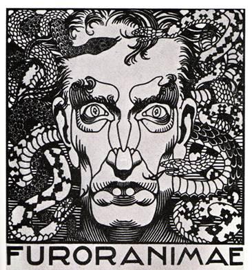 Furor animae, xilografia, 1921
