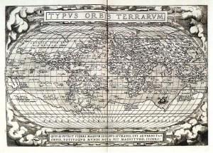 Mappamondo di Abramo Ortelio, 1570.