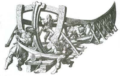 Construction d'un navire pour la navigation en haute mer au XVIe siècle