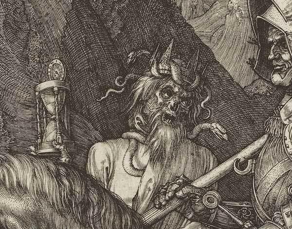Albrecht Dürer, Il cavaliere, la morte e il diavolo (1513), particolare