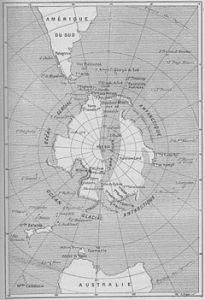 Illustrazione originale all'inizio del romanzo Le Sphinx des glaces (1897).