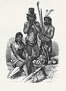 Nativi delle Nicobare in abiti europei
