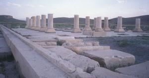 La sala delle udienze del palazzo di Pasargadae