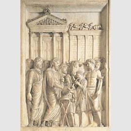 Sacrificio a Giove Capitolino. Rilievo da monumento onorario di Marco Aurelio (176-180 d.C.). Roma, Musei Capitolini.