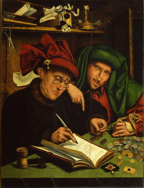 Marinus van Reymerswaele, Usurai (circa 1540), Firenze, Museo Stibbert.