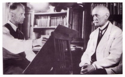 Willrich dipinge suo padre Hugo Willrich nel 1941.