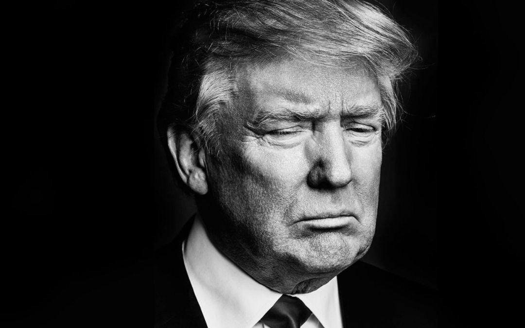donald trump black and white