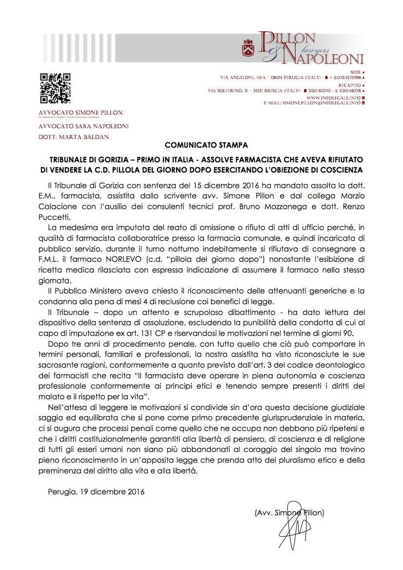Il tribunale di gorizia assolve farmacista che aveva - Ufficio tavolare di gorizia ...