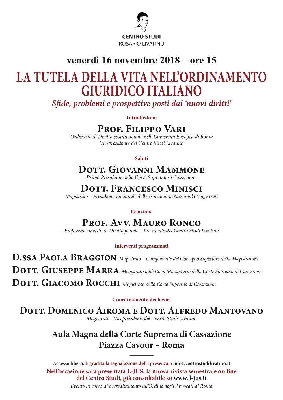 Locandina 16 novembre Roma