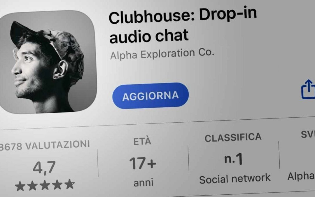 Pagina di Clubhouse su app store