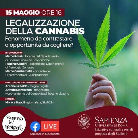Locandina evento Legalizzazione della Cannabis
