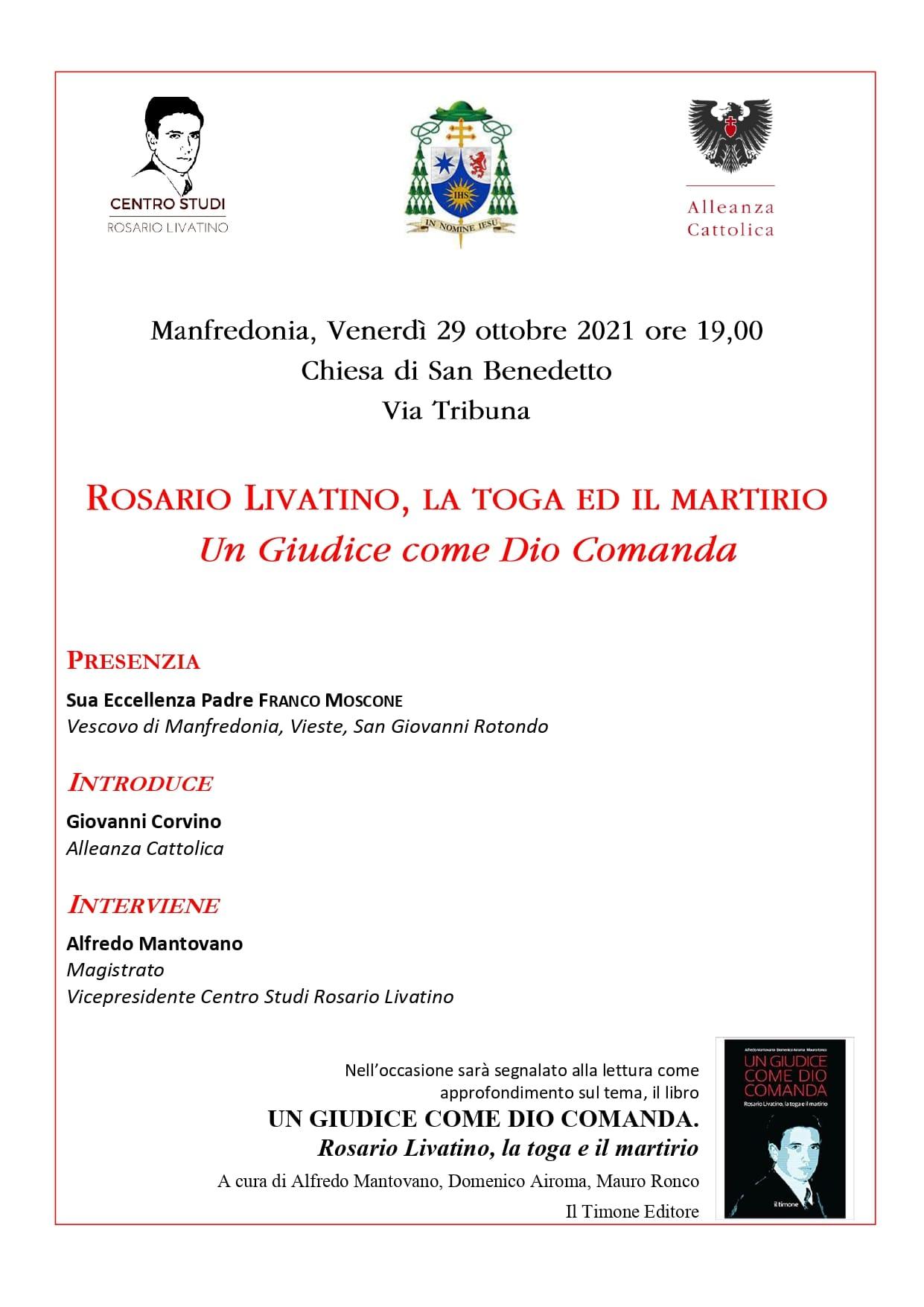 Rosario Livatino, la toga e il martirio_locandina