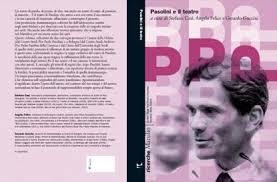 """""""Pasolini e il teatro"""". Copertina"""