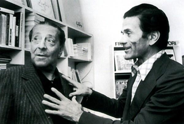 Sandro Penna con Pasolini