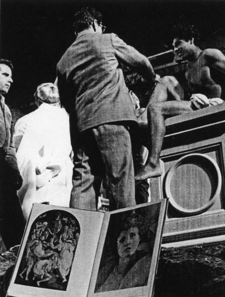 """Pasolini sul set de """"La ricotta"""" (1963)"""