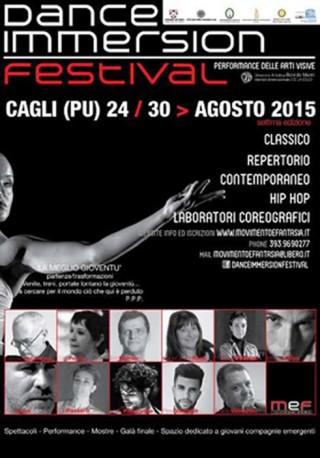 Dance Immersion Festival 2015. Locandina