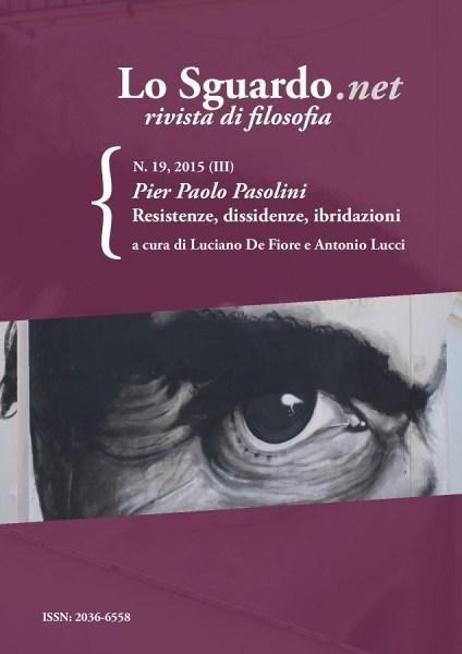"""""""LO Sguardo.net"""". n. 19 dedicato a Pasolini. Copertina"""