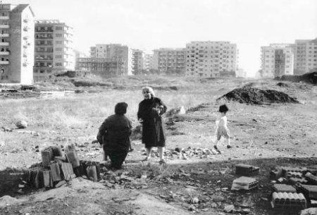Roma anni '60, ex-Borgata Gordiani. Si costruiscono i primi quartieri popolari