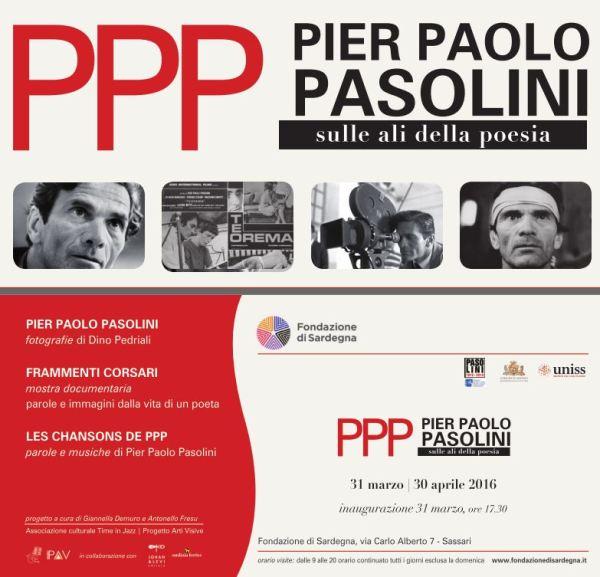 """""""PPP Pier Paolo Pasolini. Sulle ali della poesia"""".Manifesto"""