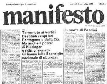"""""""il manifesto"""" del 4 novembre 1975"""