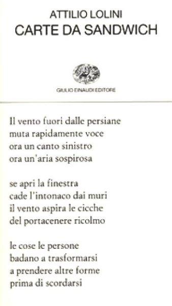 """""""Carte da sandwich"""" di Attilio Lolini"""