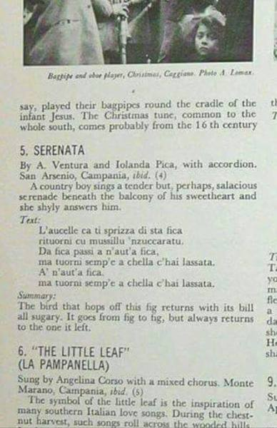 """La """"Serenata"""" raccolta da Alan Lomax"""