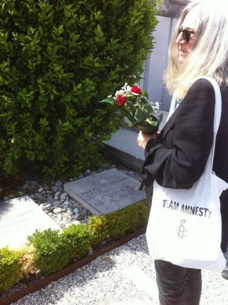 Patti Smith. Cimitero di Casarsa della Delizia (1 agosto 2015)
