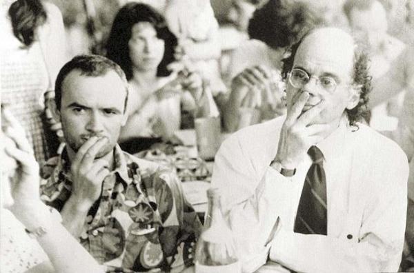 Simone Carella e Allen Ginsberg a Castelporziano (1979)