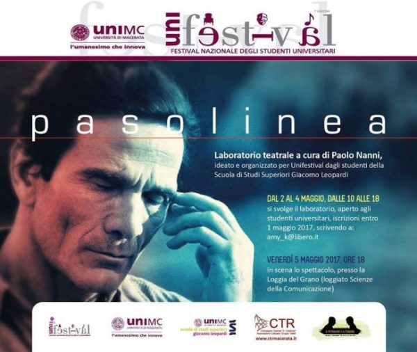 """Pasolinea"" a Macerata. Locandina"