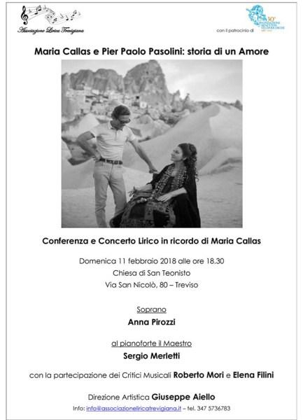 """""""Maria Callas e Pasolini"""". Treviso. Locandina"""