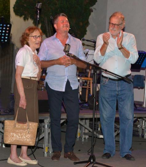 La cugina di Pia Paron, Marco Salvadori e Piero Colussi (Foto Amos Crivellari)