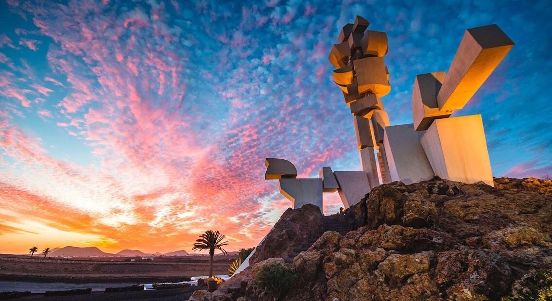 Monumento al Campesino Lanzarote atardecer