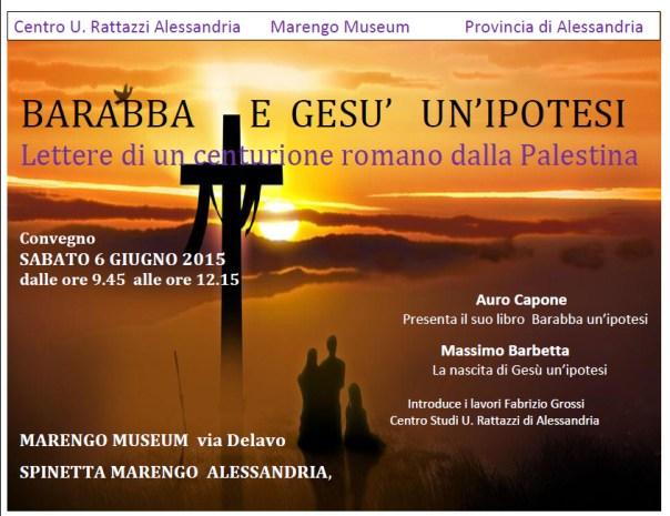 Centro Urbano Rattazzi Alessandria Barabba Gesù
