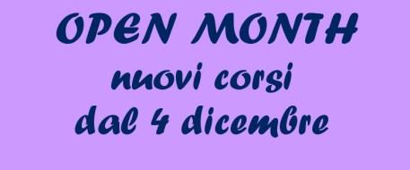 Dal 4 dicembre per tutto il mese Open Month