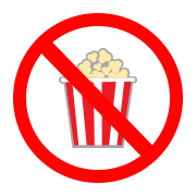 Image result for no popcorn